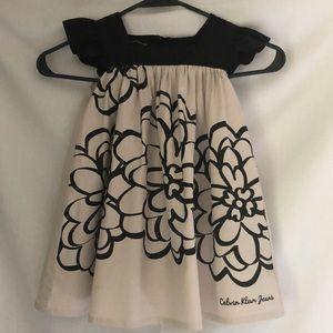 Calvin Klein Jeans 4T Toddlers Dress Black Tan